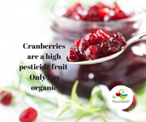 Cranberries are high in pesticides only buy organic