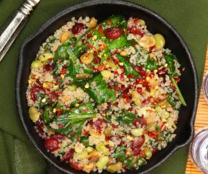 Cranberry Pecan Quinoa stuffing