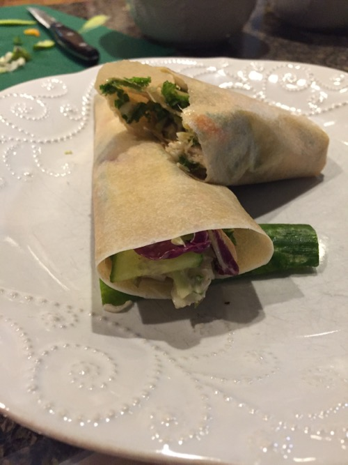 Coconut Wrap Sandwiches