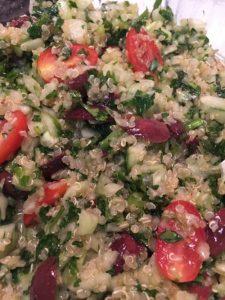 Refreshing Quinoa Tabooli Gluten Free