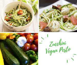 spiralized zucchini with vegan pesto