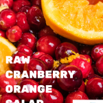 Raw Cranberry Orange Salad Dressing