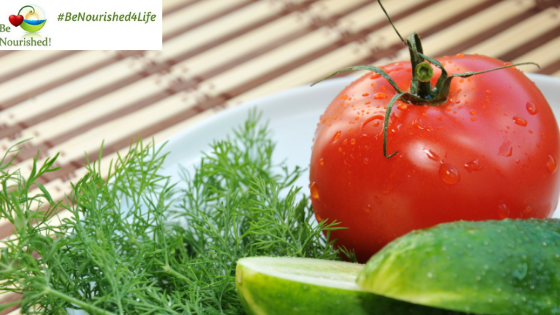 Cucumbers, tomatoes and fresh dill