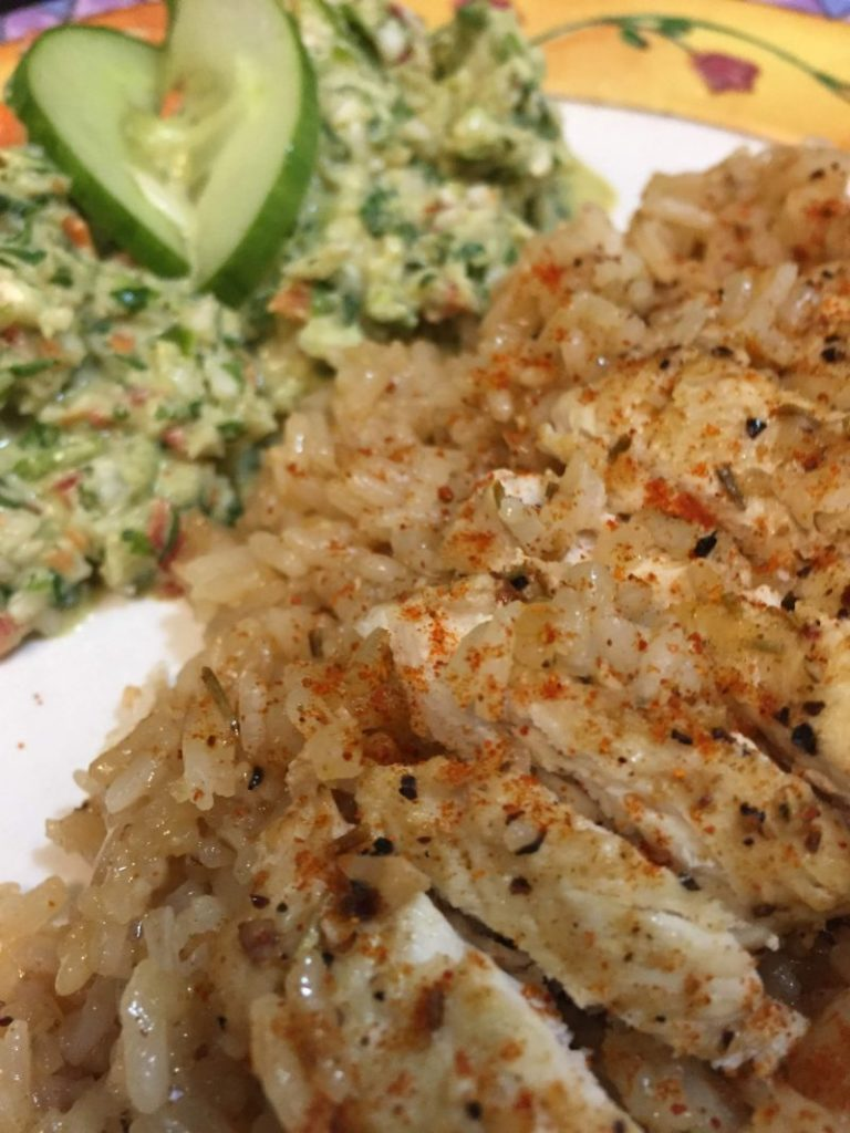 Super Easy Stovetop Chicken and Rice