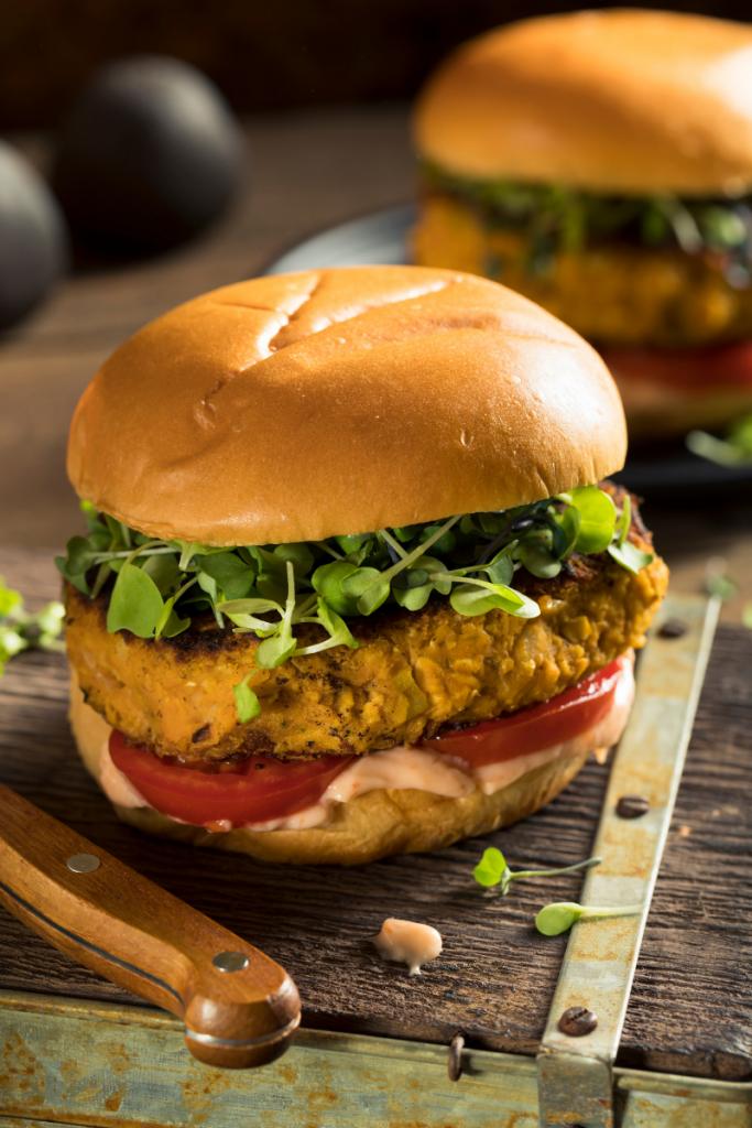 Pinto Bean Veggie Burger
