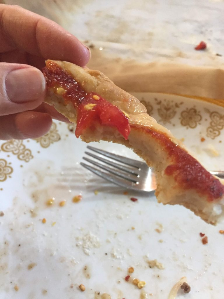 Nice end crust on the pizza