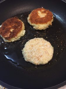 Panfried Gluten Free Goat Cheese Medallions