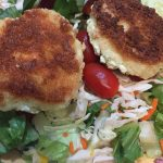 Gluten Free Baked Goat Cheese Medallions