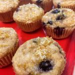 lemony blueberry banana sprouted spelt muffins