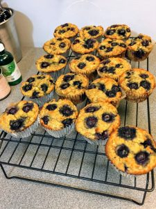 20 blueberry orange muffins
