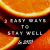 3 easy ways to stay well picture